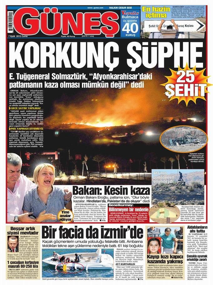 Gazete Manşetleri - 7 Eylül Cuma 21