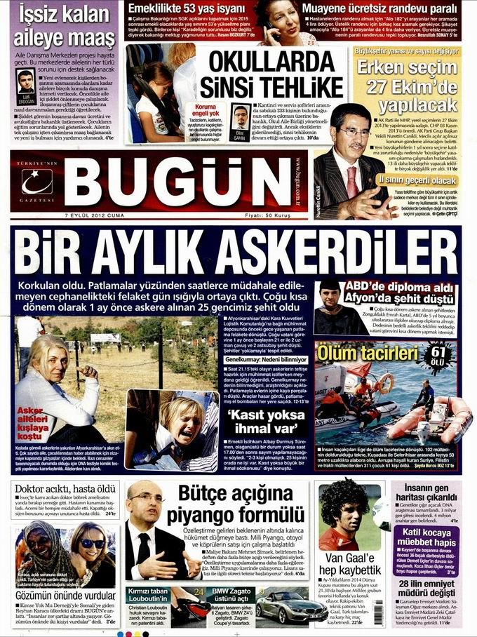 Gazete Manşetleri - 7 Eylül Cuma 24