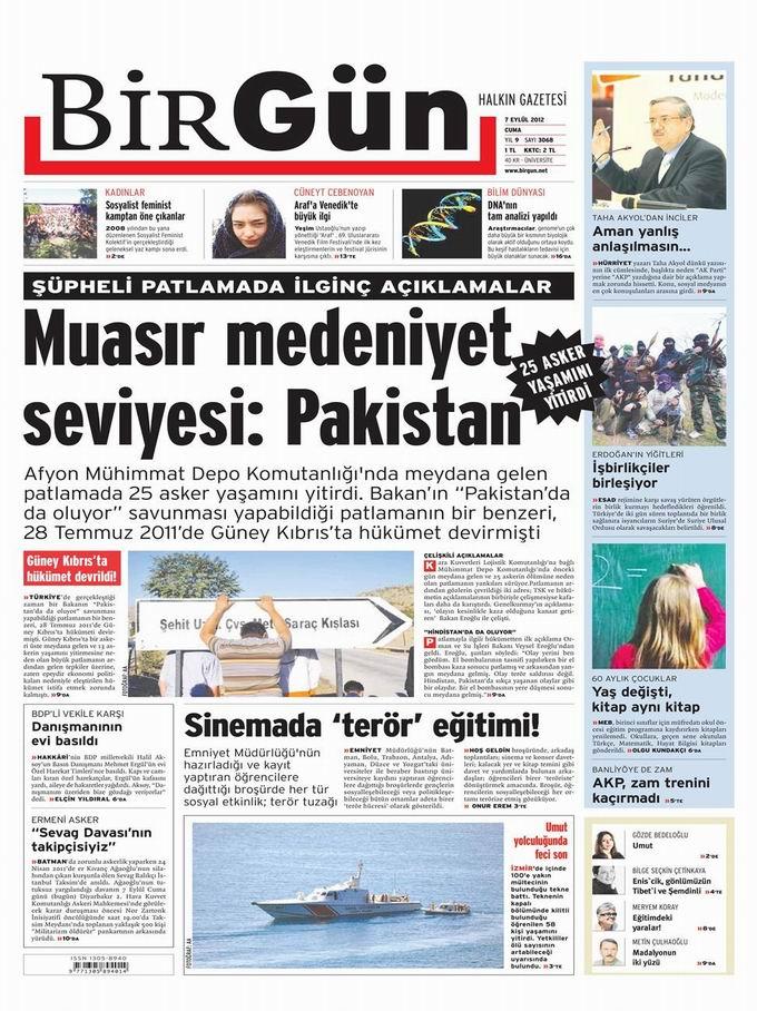 Gazete Manşetleri - 7 Eylül Cuma 25