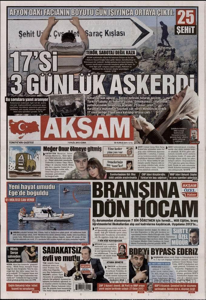 Gazete Manşetleri - 7 Eylül Cuma 26