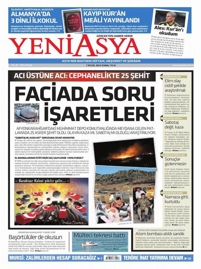 Gazete Manşetleri - 7 Eylül Cuma 3