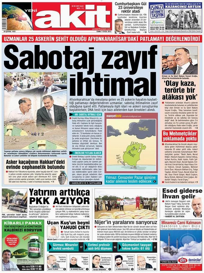 Gazete Manşetleri - 7 Eylül Cuma 4