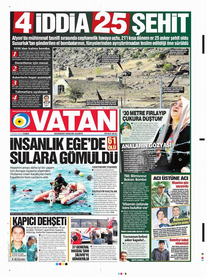 Gazete Manşetleri - 7 Eylül Cuma 5