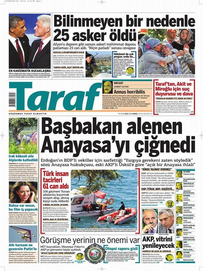 Gazete Manşetleri - 7 Eylül Cuma 8