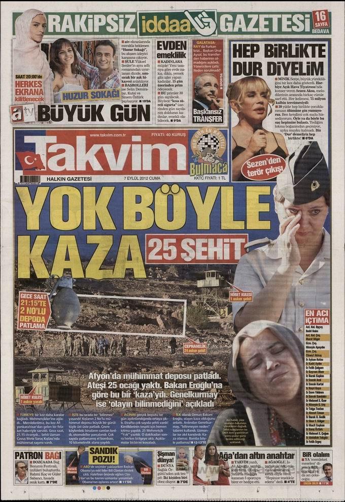 Gazete Manşetleri - 7 Eylül Cuma 9