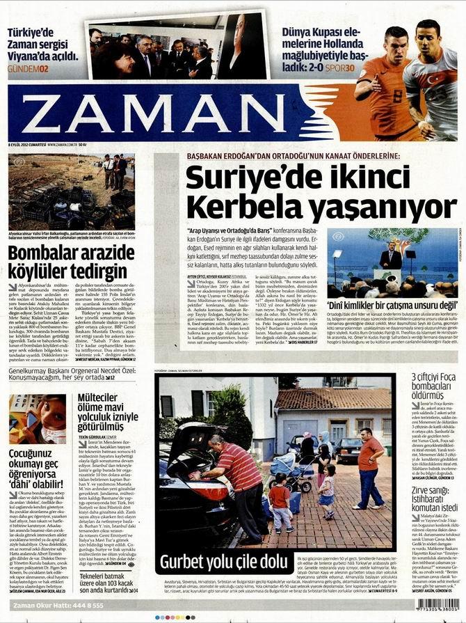 Gazete Manşetleri - 8 Eylül Cumartesi galerisi resim 1