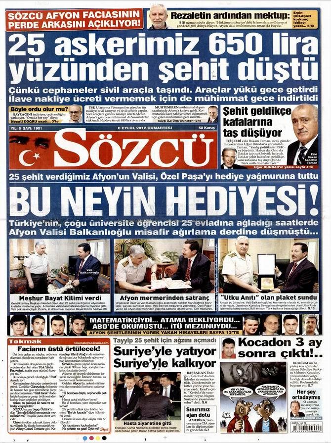 Gazete Manşetleri - 8 Eylül Cumartesi 10