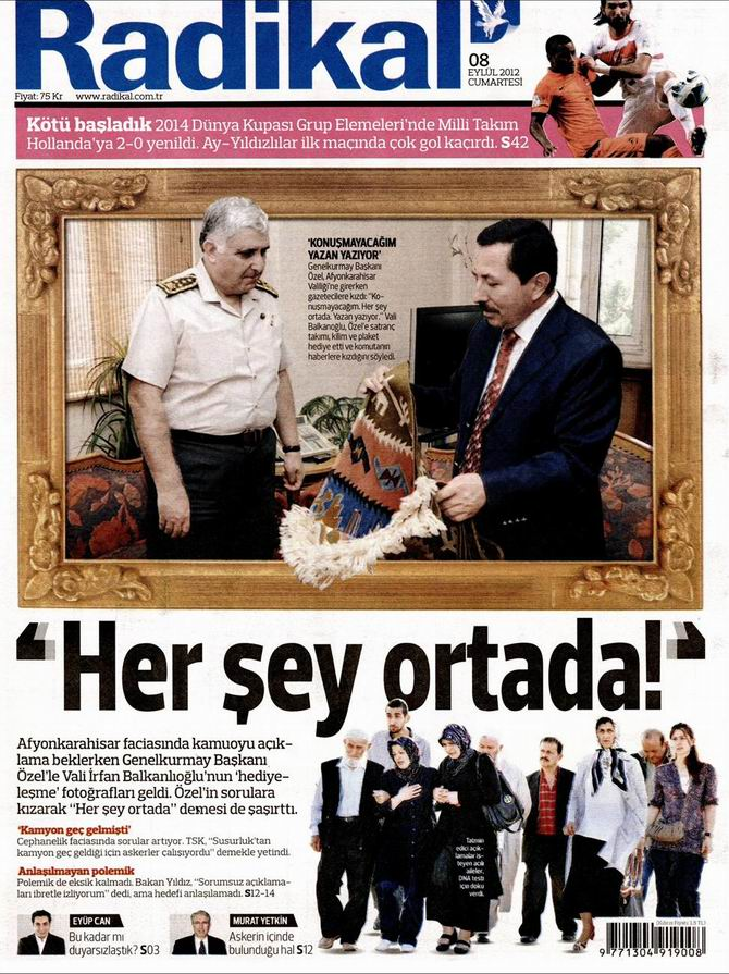 Gazete Manşetleri - 8 Eylül Cumartesi 12