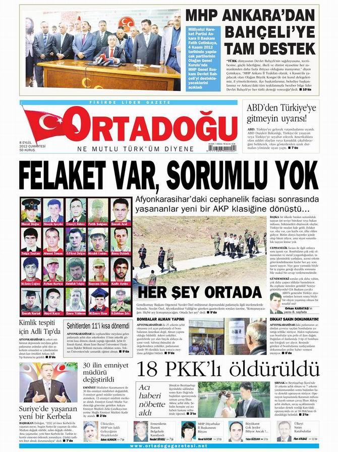 Gazete Manşetleri - 8 Eylül Cumartesi 14