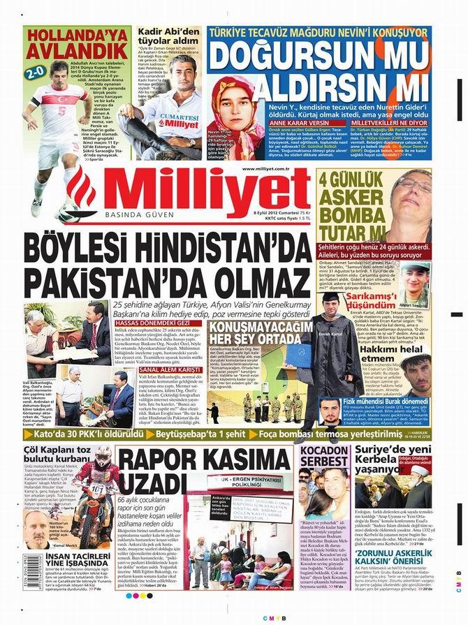 Gazete Manşetleri - 8 Eylül Cumartesi 15