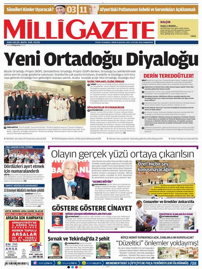Gazete Manşetleri - 8 Eylül Cumartesi 16