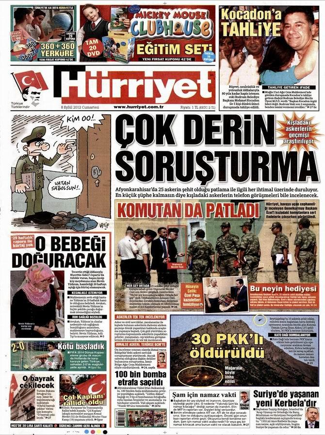Gazete Manşetleri - 8 Eylül Cumartesi 18