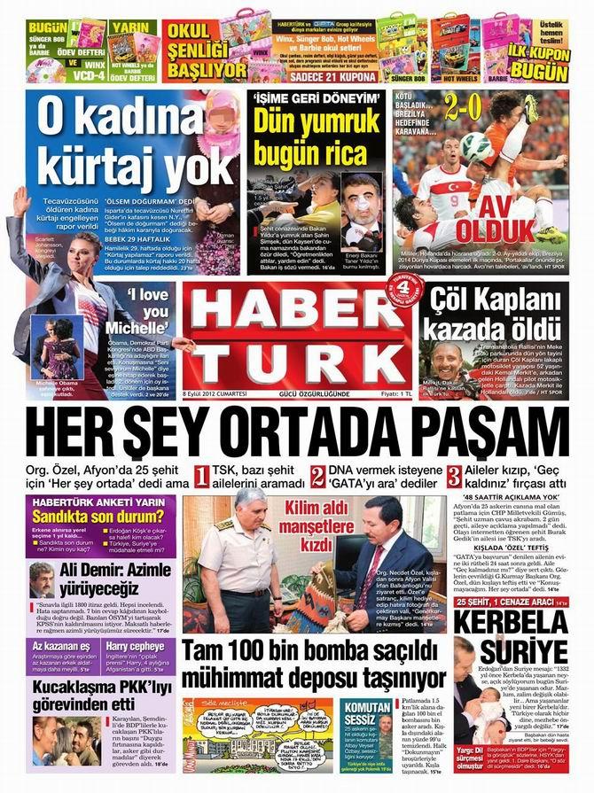 Gazete Manşetleri - 8 Eylül Cumartesi 19
