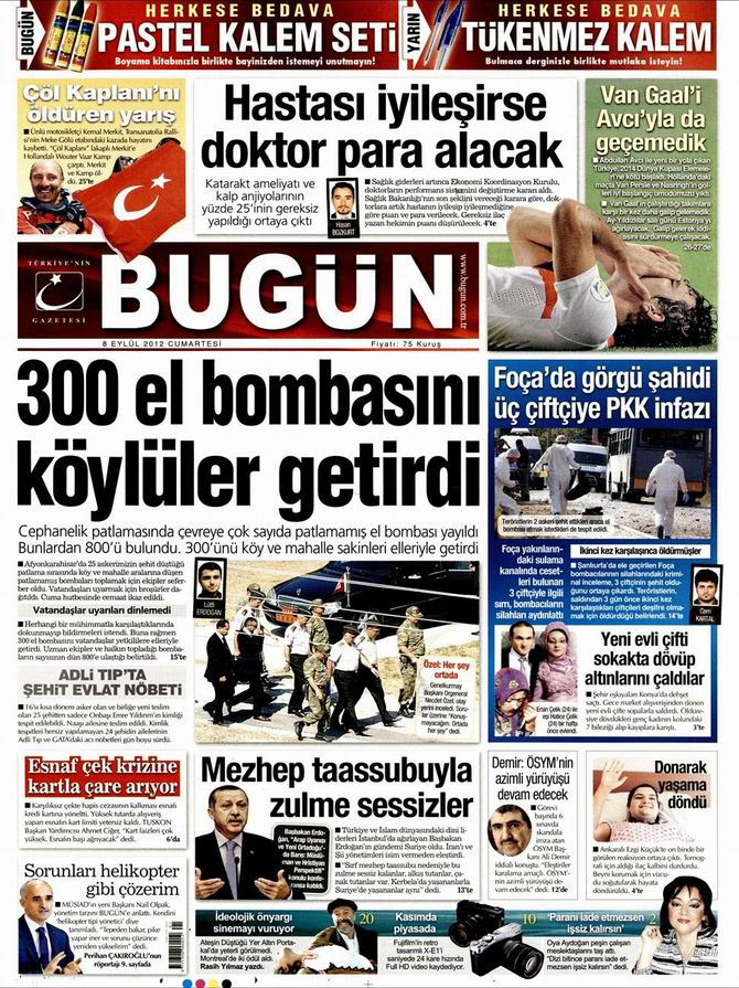 Gazete Manşetleri - 8 Eylül Cumartesi 23