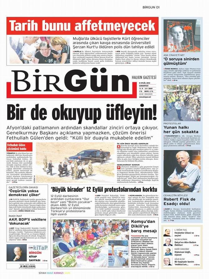 Gazete Manşetleri - 8 Eylül Cumartesi 24