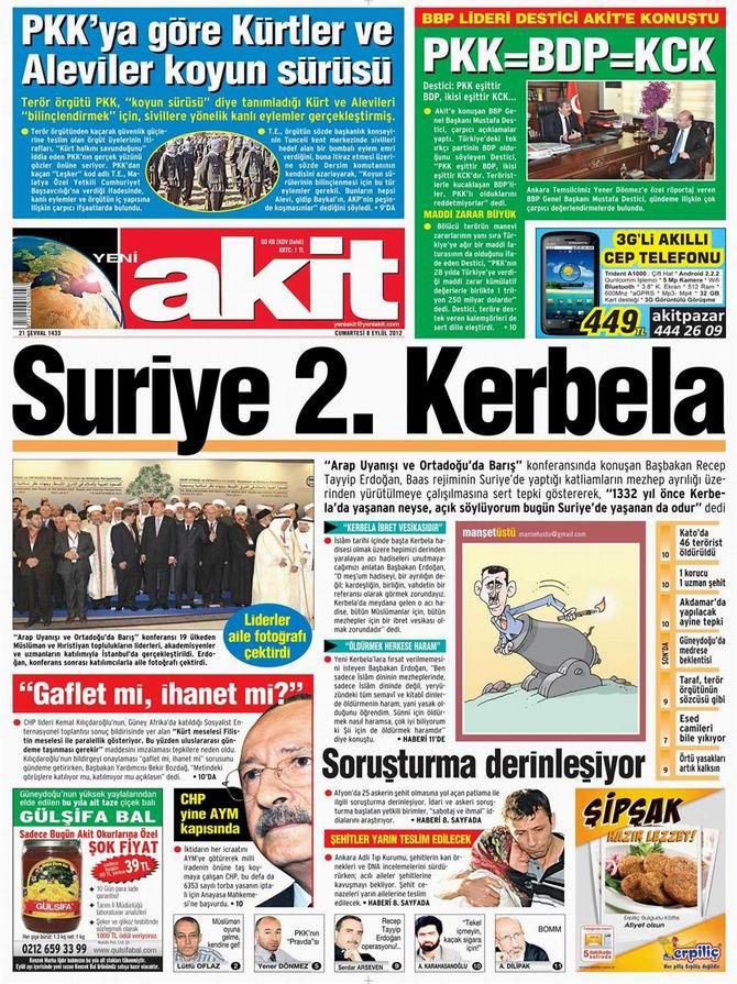Gazete Manşetleri - 8 Eylül Cumartesi 4