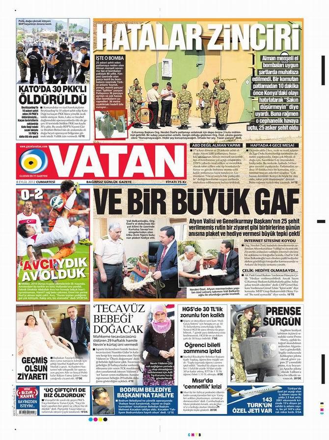 Gazete Manşetleri - 8 Eylül Cumartesi 5