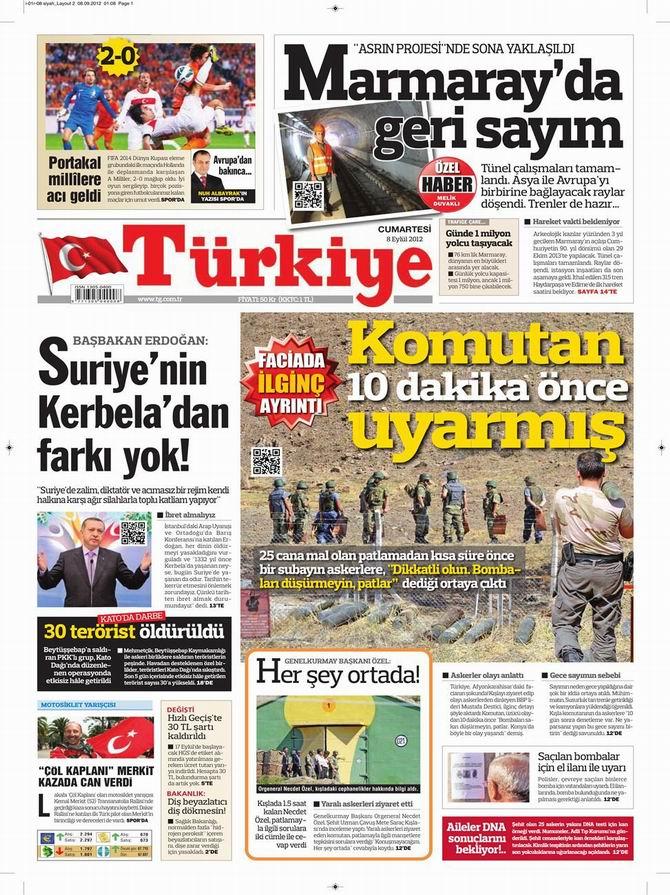 Gazete Manşetleri - 8 Eylül Cumartesi 6