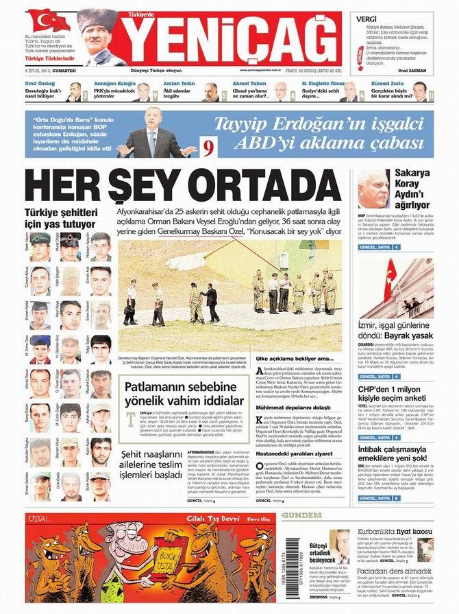 Gazete Manşetleri - 8 Eylül Cumartesi 7