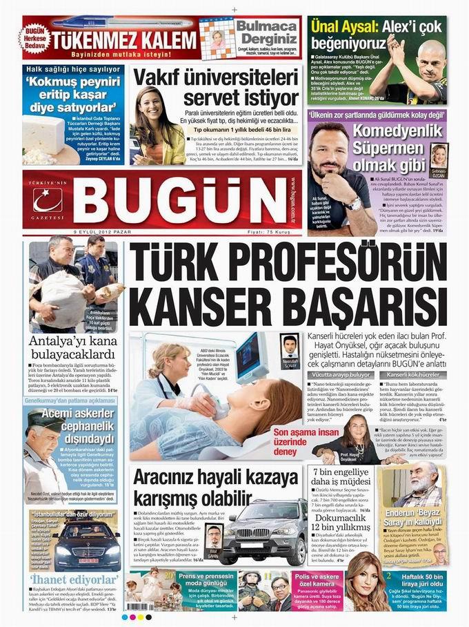 Gazete Manşetleri - 9 Eylül Pazar 20