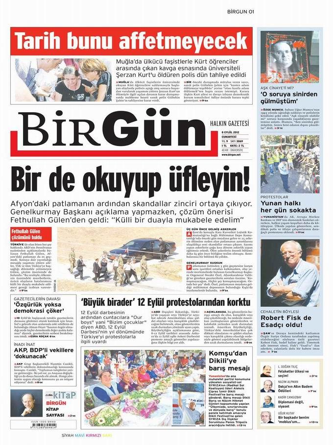 Gazete Manşetleri - 9 Eylül Pazar 21