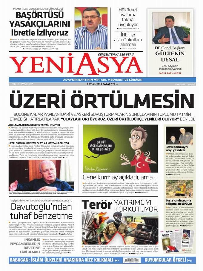 Gazete Manşetleri - 9 Eylül Pazar 3