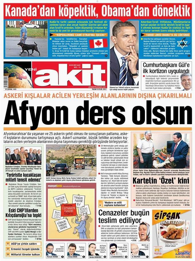 Gazete Manşetleri - 9 Eylül Pazar 4