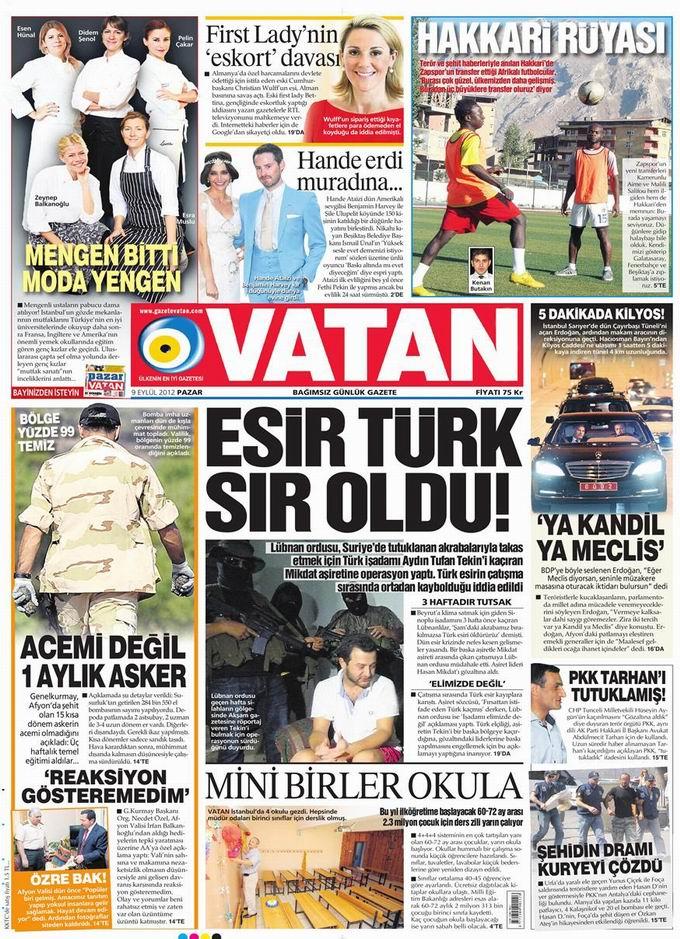 Gazete Manşetleri - 9 Eylül Pazar 5