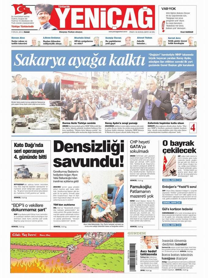 Gazete Manşetleri - 9 Eylül Pazar 6