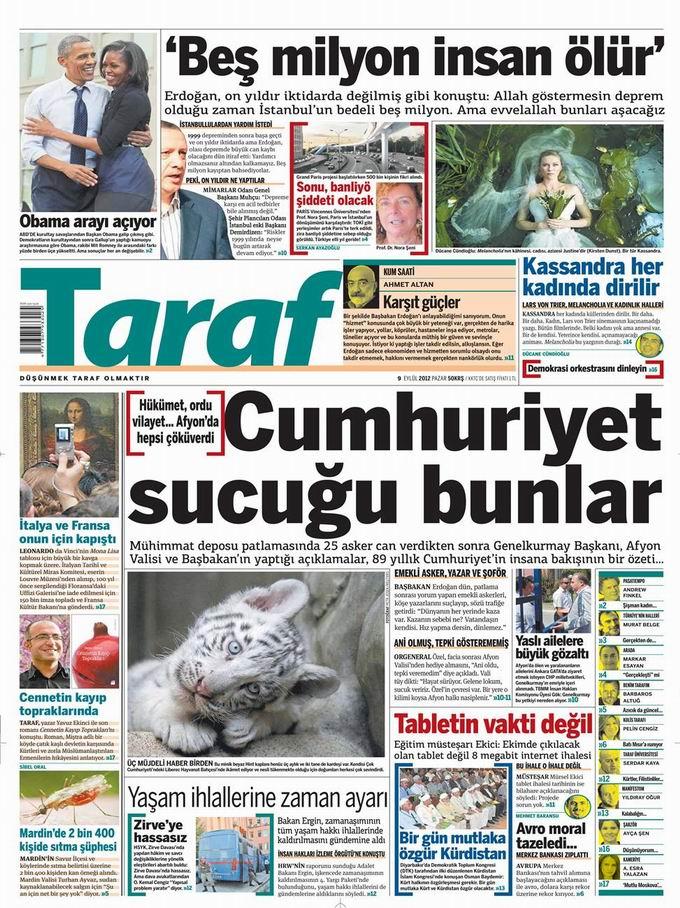 Gazete Manşetleri - 9 Eylül Pazar 7