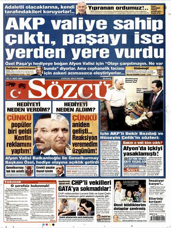 Gazete Manşetleri - 9 Eylül Pazar 9