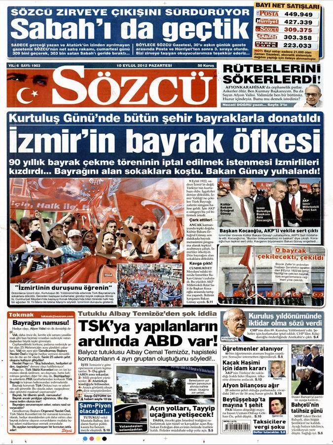 Gazete Manşetleri - 10 Eylül Pazartesi 10