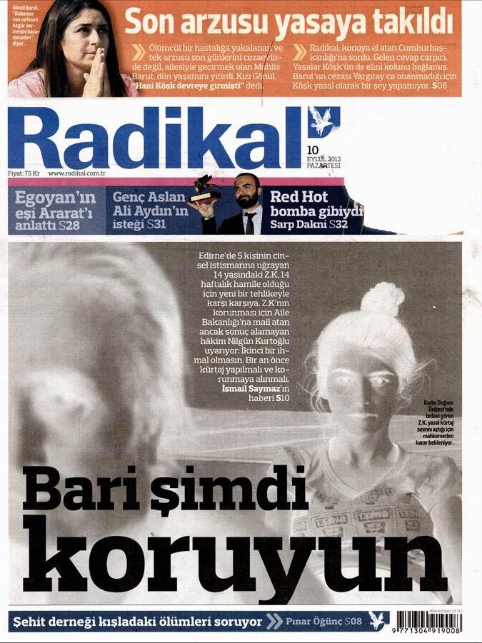 Gazete Manşetleri - 10 Eylül Pazartesi 12