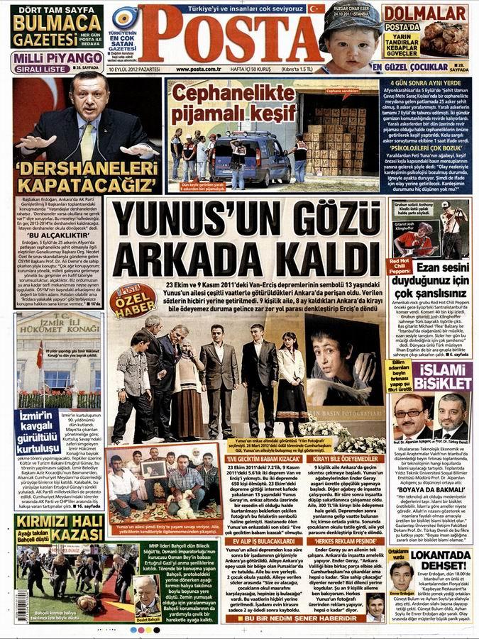 Gazete Manşetleri - 10 Eylül Pazartesi 13