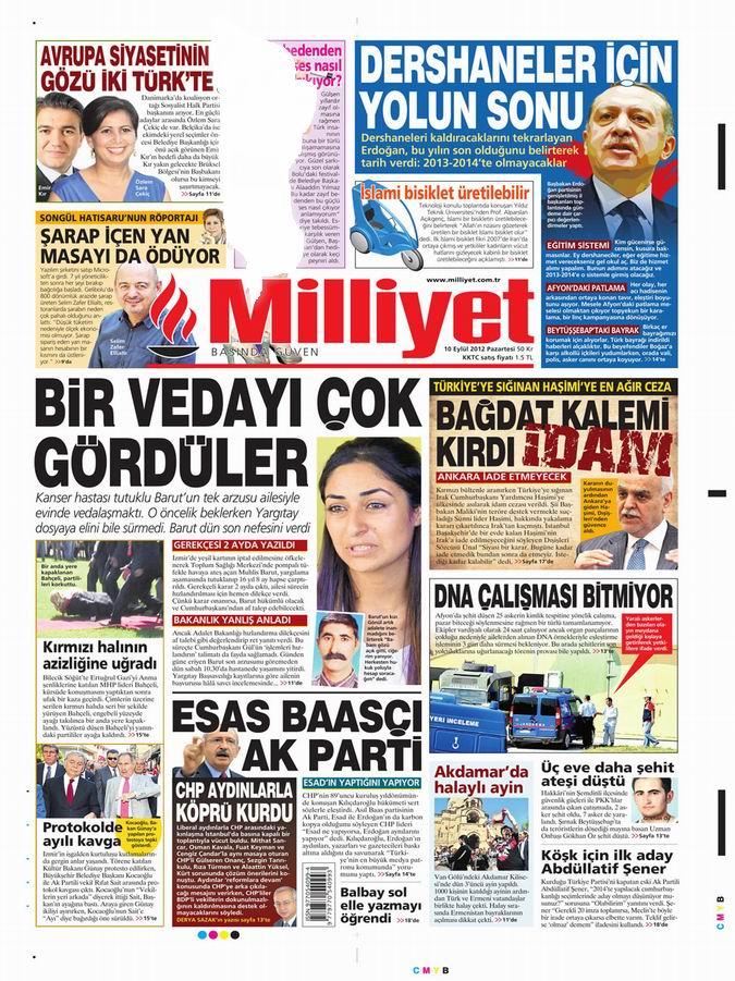 Gazete Manşetleri - 10 Eylül Pazartesi 15