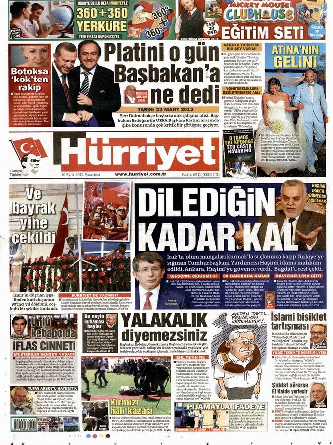 Gazete Manşetleri - 10 Eylül Pazartesi 17