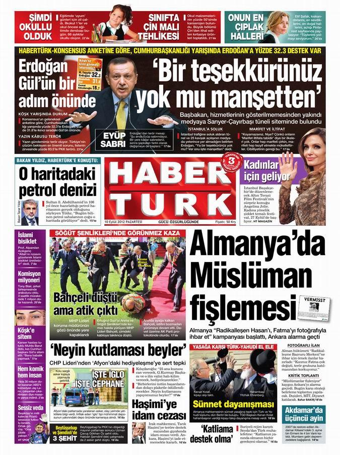 Gazete Manşetleri - 10 Eylül Pazartesi 18