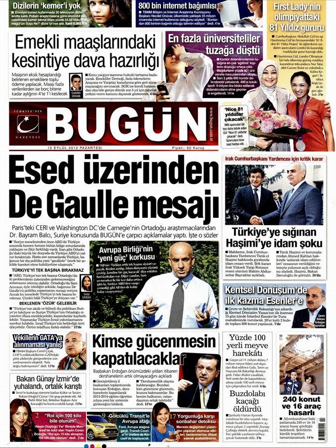 Gazete Manşetleri - 10 Eylül Pazartesi 21