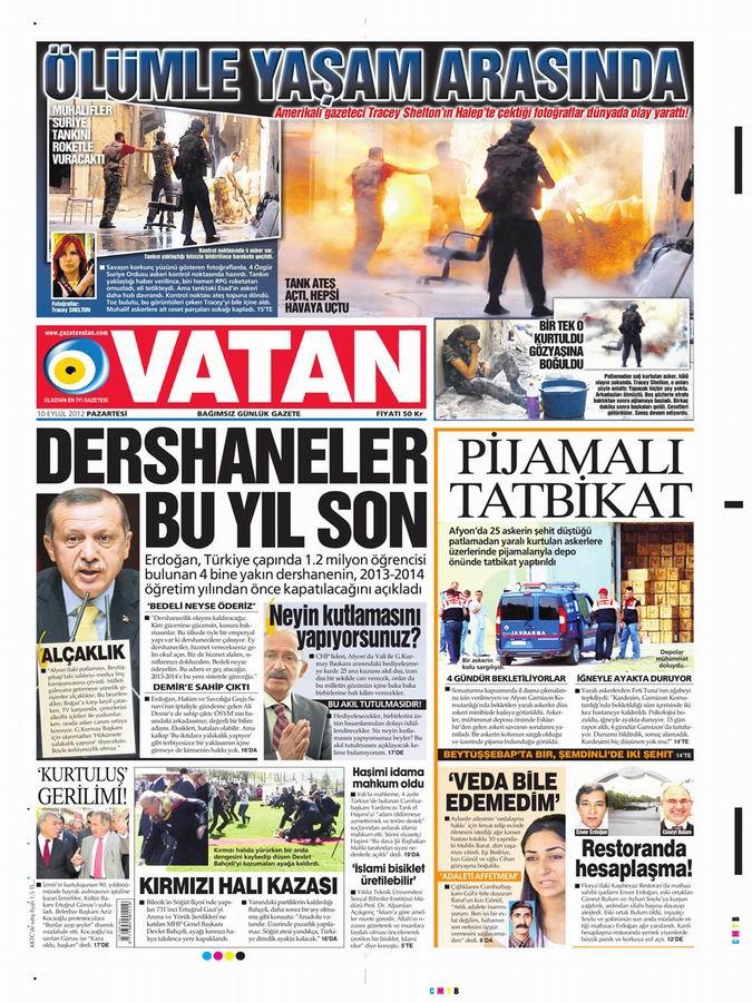 Gazete Manşetleri - 10 Eylül Pazartesi 5