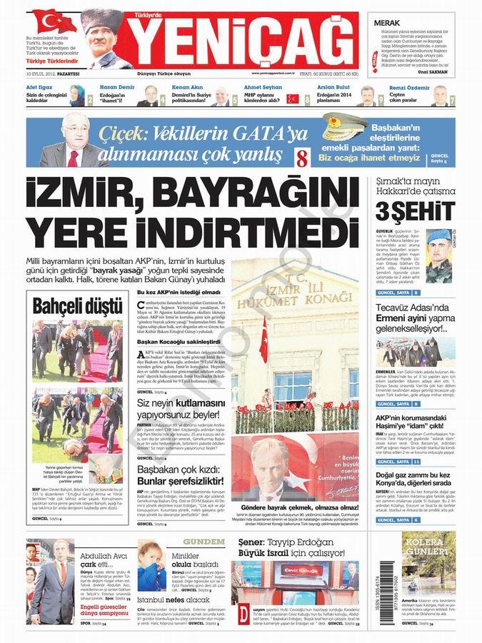 Gazete Manşetleri - 10 Eylül Pazartesi 6
