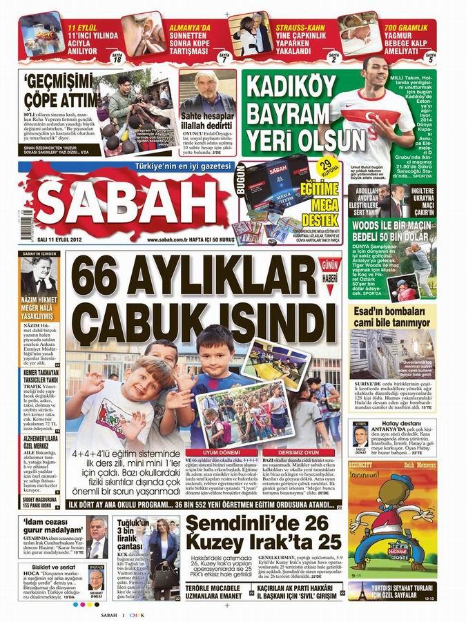 Gazete Manşetleri - 11 Eylül Salı 11