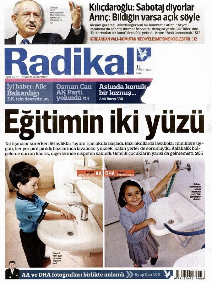Gazete Manşetleri - 11 Eylül Salı 12