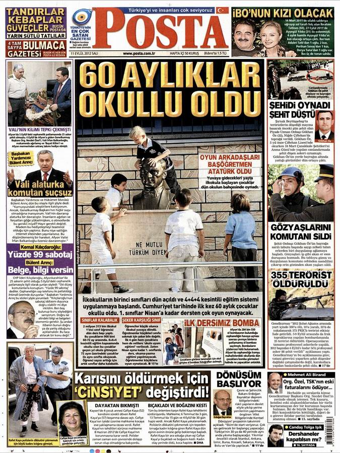 Gazete Manşetleri - 11 Eylül Salı 13