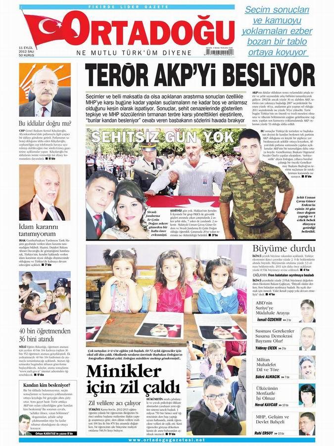 Gazete Manşetleri - 11 Eylül Salı 14