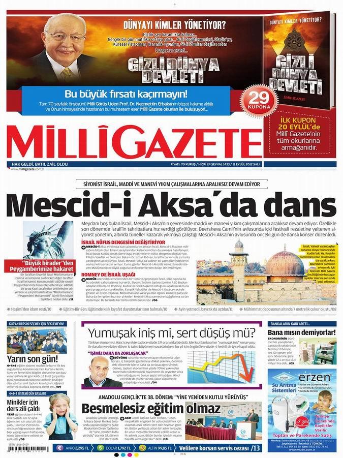 Gazete Manşetleri - 11 Eylül Salı 16