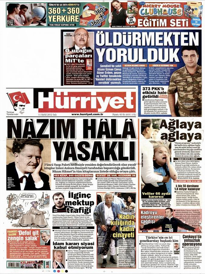 Gazete Manşetleri - 11 Eylül Salı 17