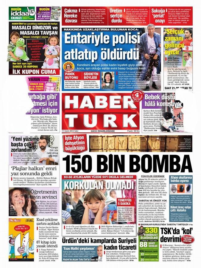 Gazete Manşetleri - 11 Eylül Salı 18