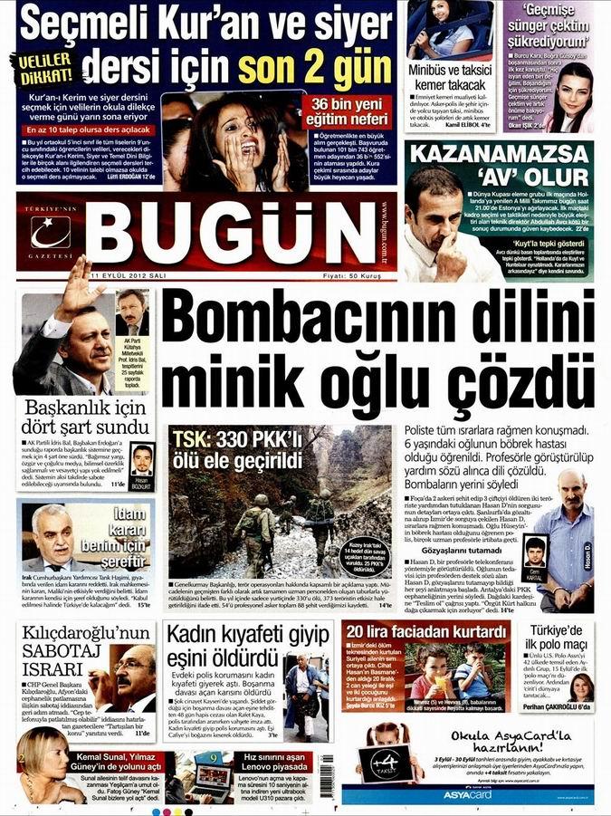 Gazete Manşetleri - 11 Eylül Salı 21