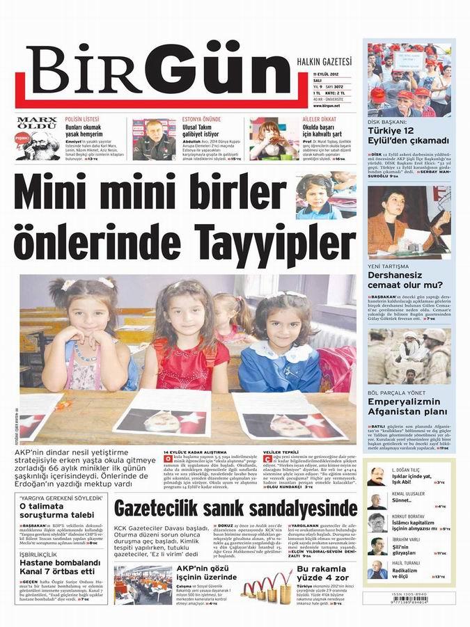 Gazete Manşetleri - 11 Eylül Salı 22