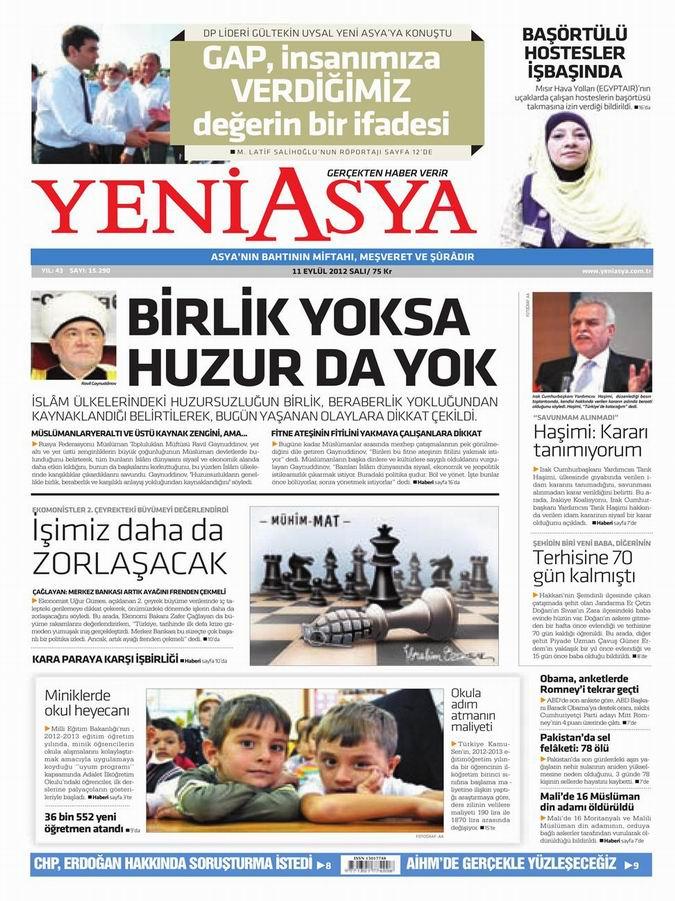 Gazete Manşetleri - 11 Eylül Salı 3